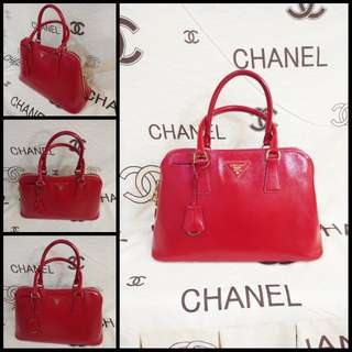Prada luxury bag - all red