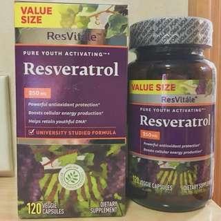 🔥4個月量🔥 白藜蘆醇250mg ResVitale  (120粒)