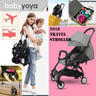 (GREY) free delivery travel stroller