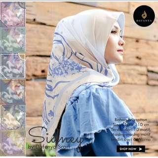 Square hijab pollycoton