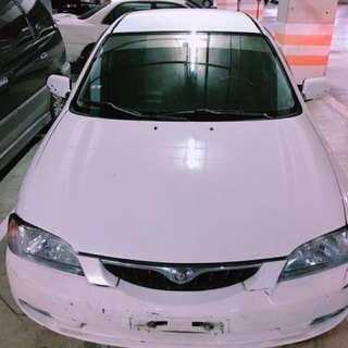 自售車*1998年馬自達323 白色1.6cc 稅金省 冷暖氣強 便宜代步車
