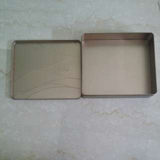 Free Metal rectangle box gold colour
