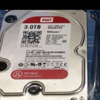 Wts 3tb wd red sata hdd $95