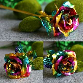*FREE DELIVERY to WM only / Pre order 15-18 days* 24k multicolor gold rose each as shown design/color. Free delivery is applied for this item.