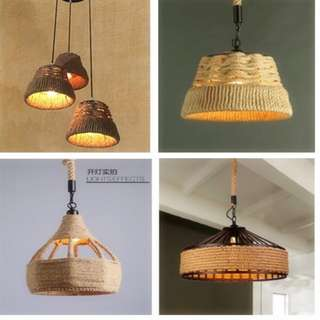 Modern Natural Material Hanging Light