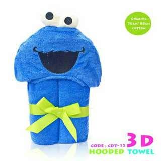 3D Kids Hooded Towel CDT12