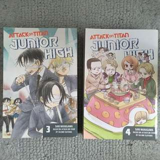 Attack on Titan Junior High (Vol. 3 and 4)