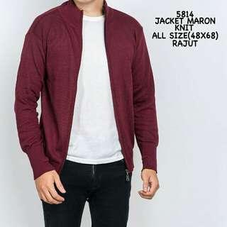Jacket Maroon Knit