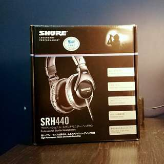全新耳機 Shure SRH440 headphone