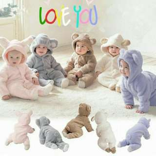 Winter cotton baby romper long sleeve infant jumpsuit ready stock baby cloth