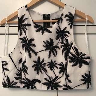 Palm Crop Top