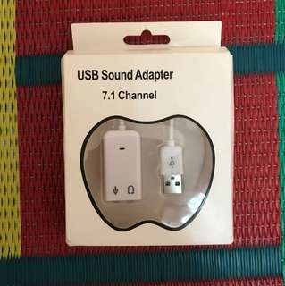 USB Sound Adaptor 7.1 channel