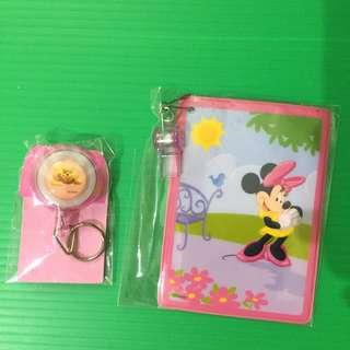 全新迪士尼 小熊維尼 pooh 伸縮扣 米奇米妮卡夾 悠遊卡夾