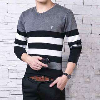 Stripes Knitted Shirt for Him
