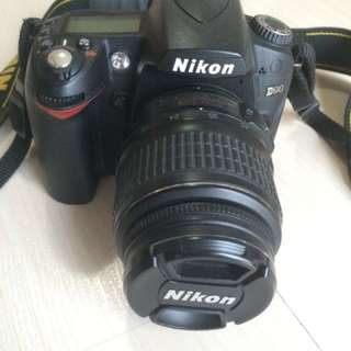 Nikon D90 With Lens Kit 18-55 MM + Charger
