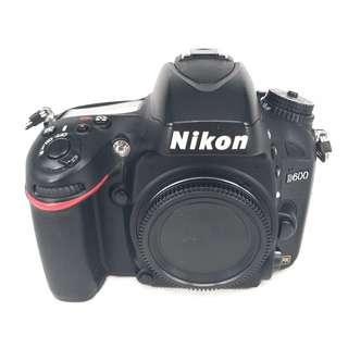 Nikon D600 (24.3MP) FullFrame DSLR Body (Used) [SN: ***4653]