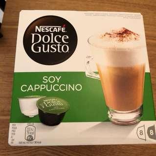 雀巢 dolce gusto 咖啡膠囊 豆漿卡布奇諾 1盒
