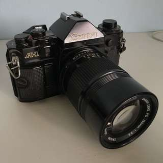 Canon A1 with 135mm f3.5 FD lens