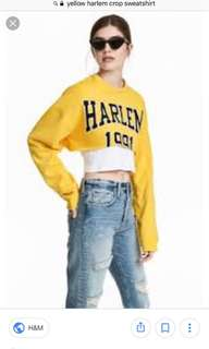 ISO IN SEARCH OF HARLEM 1991 yellow crop top