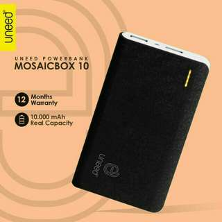 Uneed Mozaic Powerbank 10000mAh Polymer Battery - Black