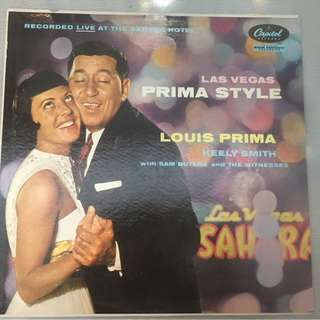 Louis Prima And Keely Smith With Sam Butera And The Witnesses ‎– Las Vegas Prima Style, Vinyl LP, Capitol Records ‎– T1010, 1958, USA