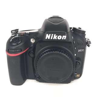 Nikon D600 (24.3MP) FullFrame DSLR Body (Used) [SN:***4742]