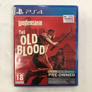 PS4 PREOWNED WOLFENSTEIN