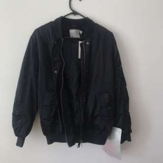 ASOS BLACK BOMBER JACKET NEVER WORN TAGS STILL ON