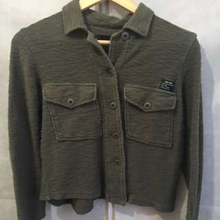 OBEY ARMY GREEN BUTTON UP