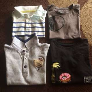 Tshirt Boy Size 2-3tahun