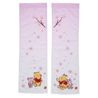 Japan Disneystore Disney Store Pooh & Piglet SAKURA Noren Preorder