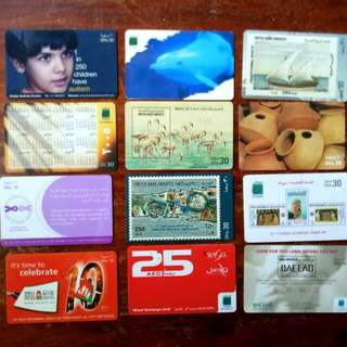 UAE Collectible Used Pre-paid Phone Cards