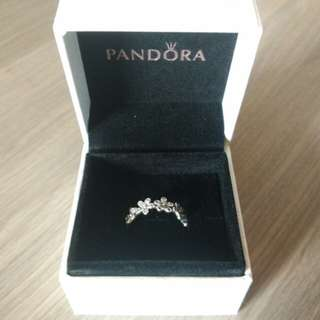 Pandora Silver Dazzling Daisy Chain Ring