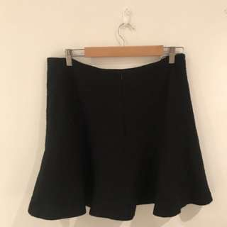 Marcs Black Wool Skirt