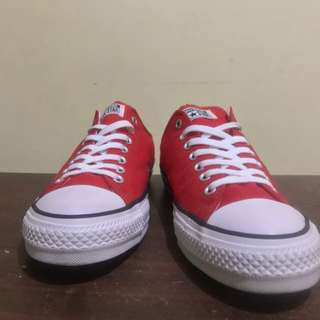 Authentic Converse Unisex Chuck Taylor All Star Low Top Red Sneakers
