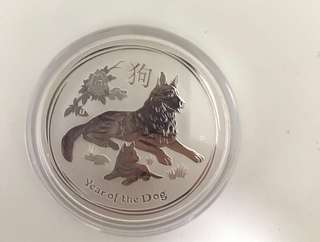 2018 Lurar year of the Dog(99.99 Silver proof Coin)