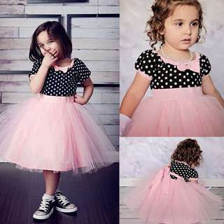 BNWT Polka Dots Girls Pageant Dress Party Formal 2T