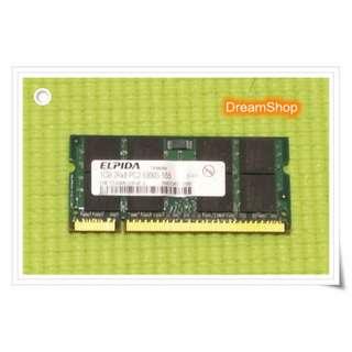【DreamShop】原廠 ELPIDA爾必達筆記型 1GB DDR2 PC2-5300S 667MHz RAM雙面顆粒