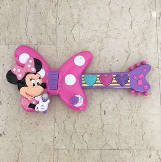 Minnie Mouse Pink Guitar