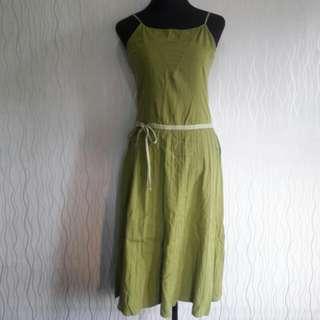 Plain Dark Green Dress