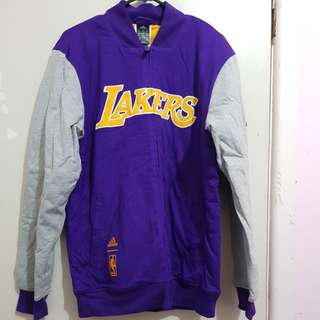 Authentic  Adidas Lakers men's thick warm jacket