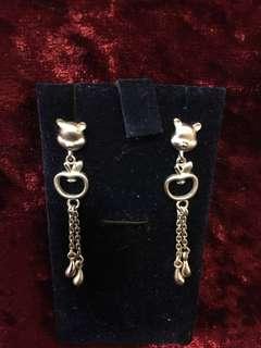 Winnie the Pooh 925 silver earrings (70% new)