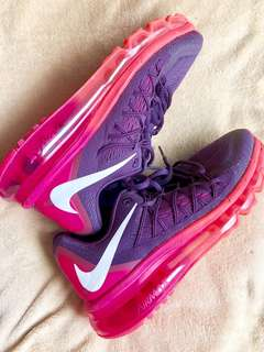 Nike Air Max 2015 Women Round Toe Synthetic Pink Running Shoes