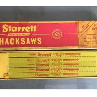 """Starrett Hacksaws HSS 250mm x 13mm x 0.65mm 10"""" x 1/2"""" x 0.025"""" Made in Great Britain / UK"""