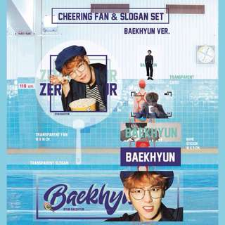 [PREORDER] EXO CHEERING FAN & SLOGAN SET BY BUBEESTORE