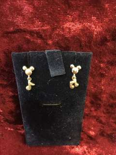 Mickey Mouse earrings (925 silver) 70% new
