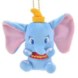 Japan Disneystore Disney Store Dumbo Magnet Stuffed Plush Doll Toy with Keychain