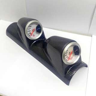 Gauge console 双孔A柱車錶架 (碳纖紋- 52mm 專用)