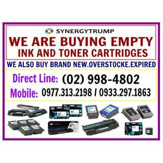 BUYER OF BRAND NEW AND EMPTY INK AND TONER CARTRIDGES