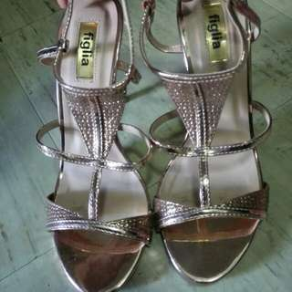 Rose gold figlia sandals